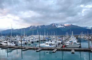 Alaska in summer-Seward port