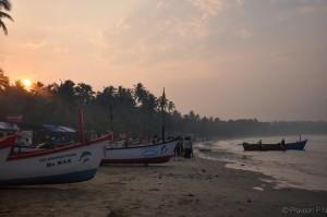 Early morning at Palolem beach