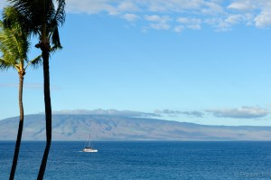 Island of Molokai from our balcony