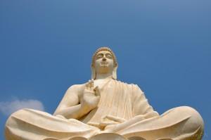 Buddha outside Belum caves