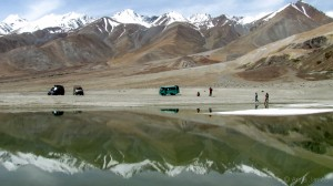 Still waters of Pangong