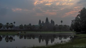 Cliched Angkor Wat sunrise shot