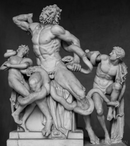 The statue of Laocoön and His Sons