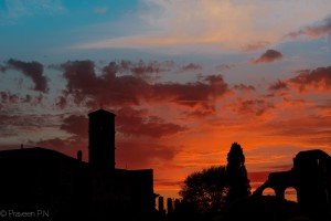 Sunset over Roman Forum