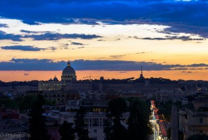 Sunset from Villa Borghese