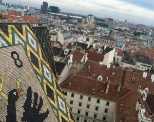 View from the south tower of Stephansdom