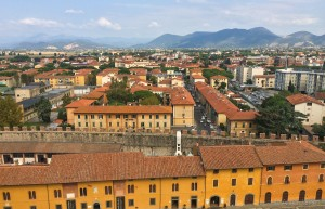 City of Pisa from top of the Leaning tower