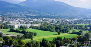 View from Panorama restaurant Hohensalzburg