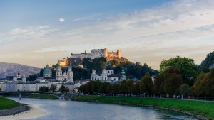 View from one of the bridges over Salzach