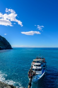 Ferry running between Cinque terre villages