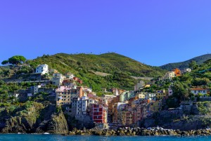 View of Riomaggiore from the sea