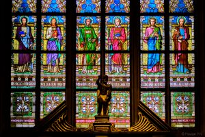 Window art in St. Vitus cathedral